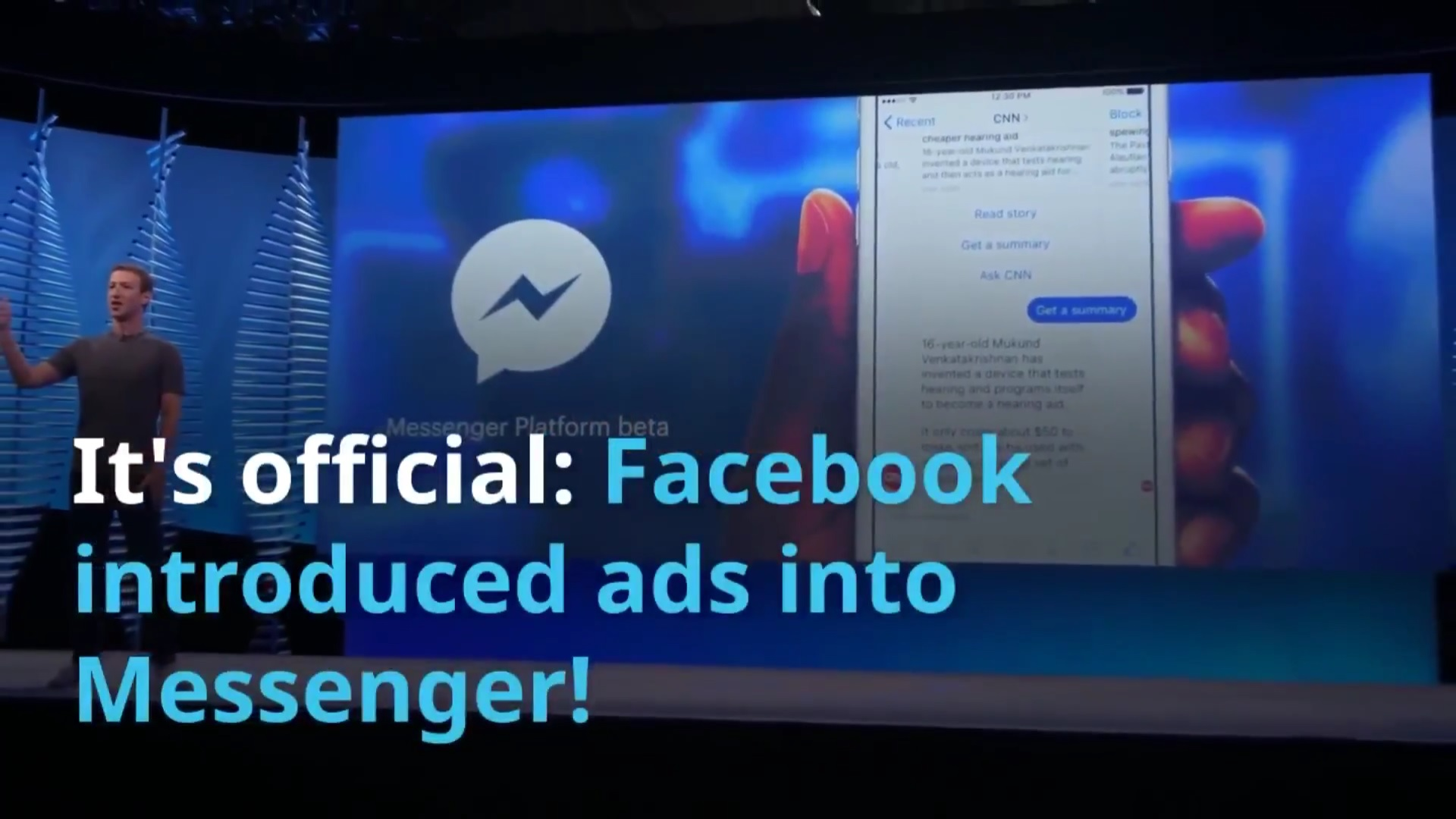 Digital industry news #1 | Facebook introduced ads into Messenger