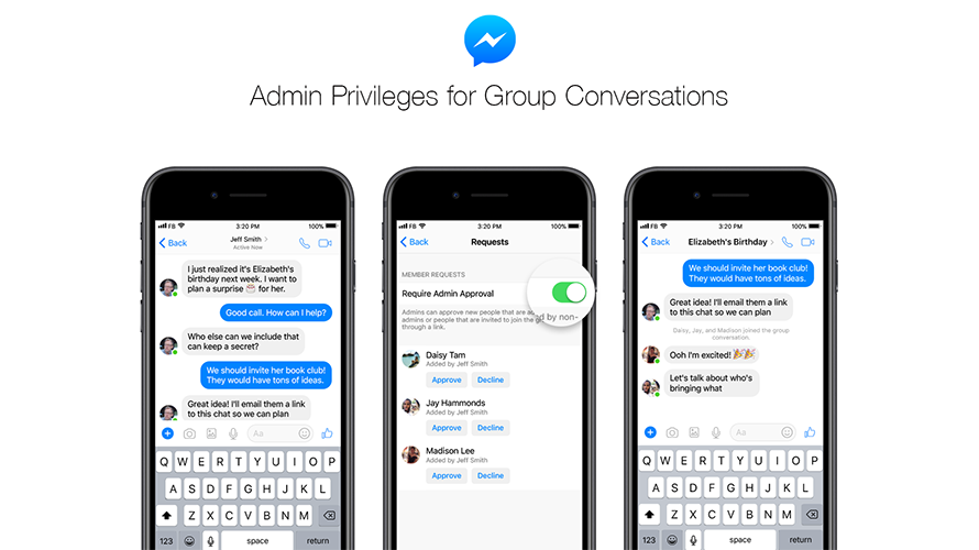 Admin Privileges for Group Conversations