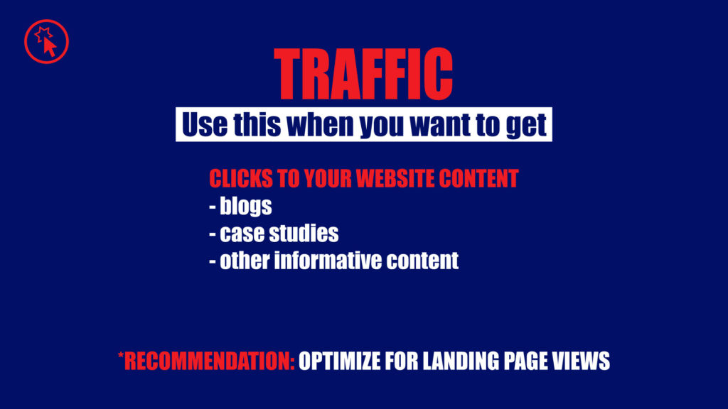 Traffic campaign objective