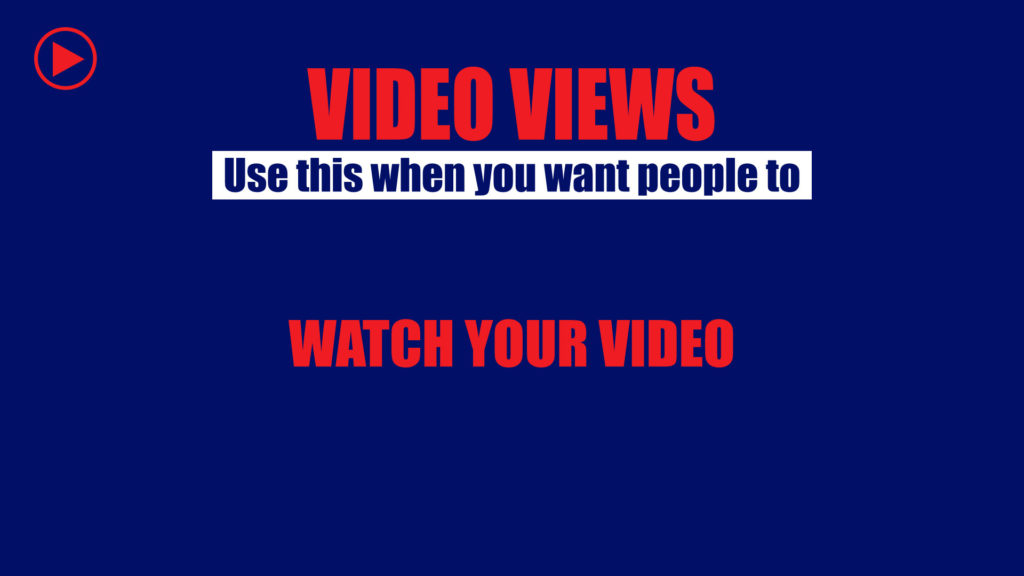 Video views campaign objective