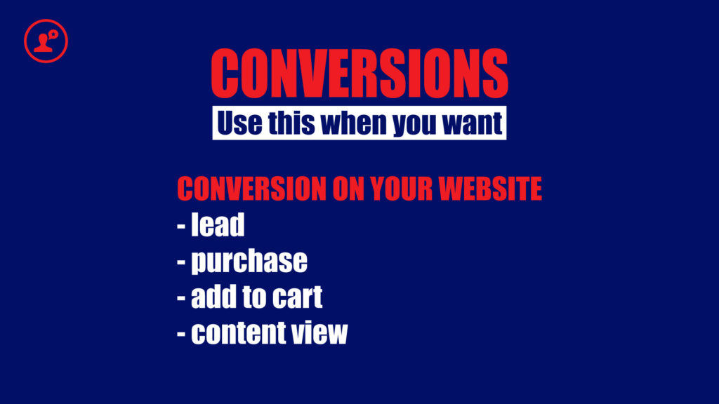 Conversions campaign objective